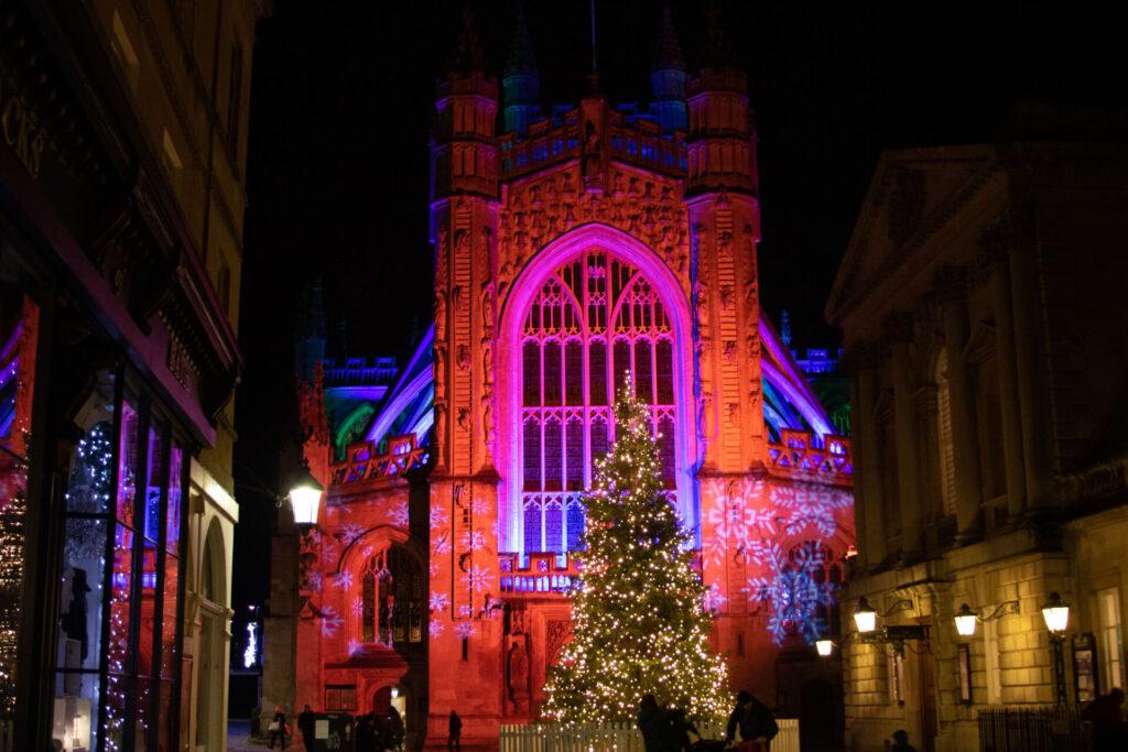Bath Abbey - Bath Christmas Light Trail
