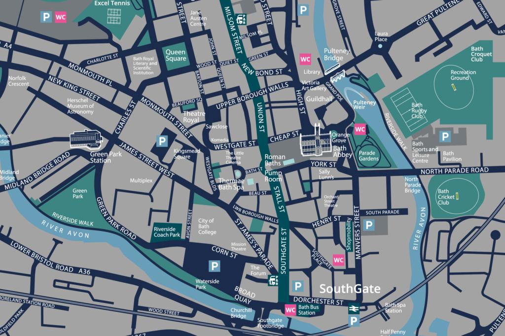 Map of Bath, UK